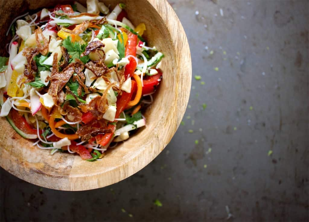 Vermicelli Salad with Garlic and Lime Dressing