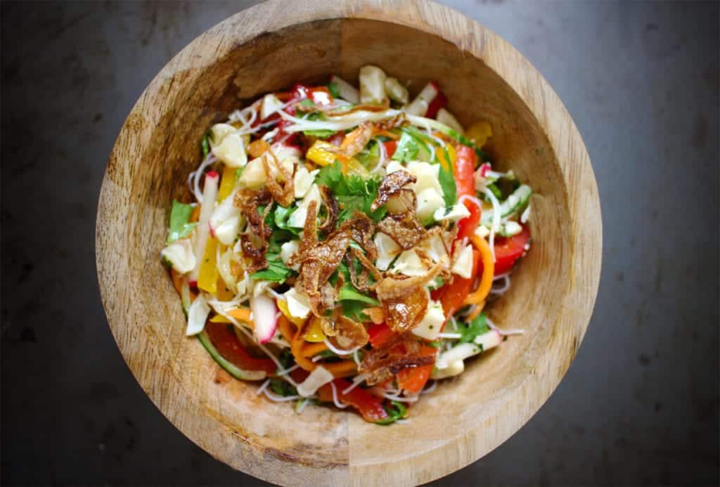 Vermicelli Salad with Garlic & Lime Dressing