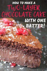 Magic Two Layer Chocolate Cake