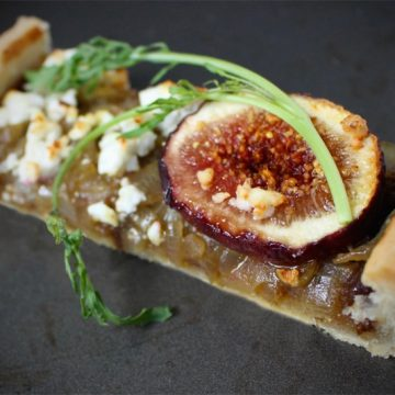Onion, Fig and Feta Tart
