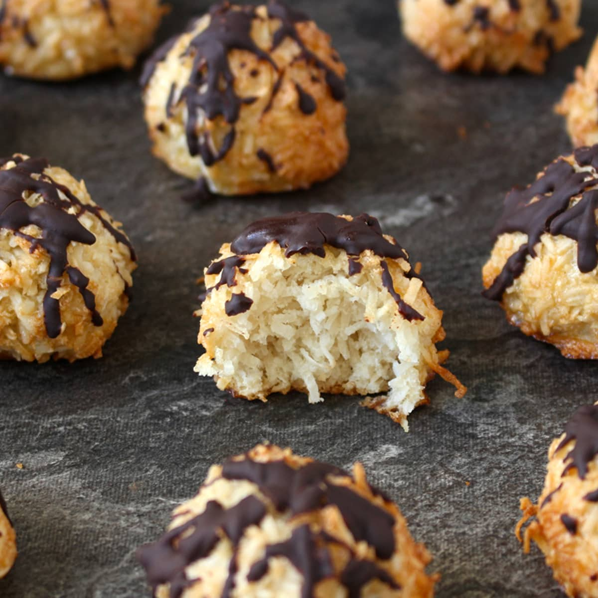 Coconut Macaroons With Chocolate Drizzle A Baking Journey