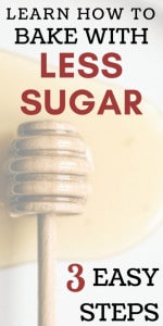 Tips to bake with less sugar