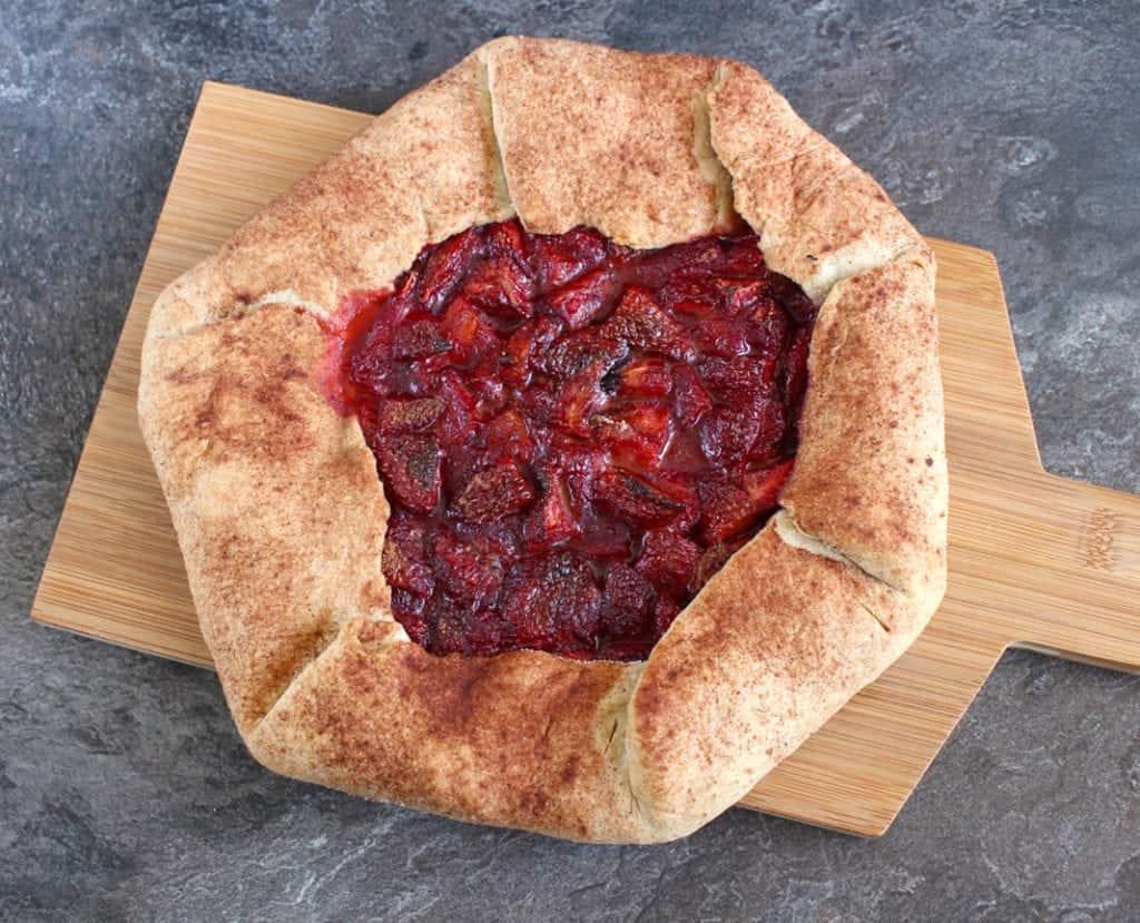 Cinnamon Strawberry Galette