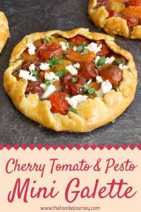 Cherry Tomato & Pesto Mini Galette
