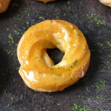 Honey Lemon Glazed Cruller Donuts