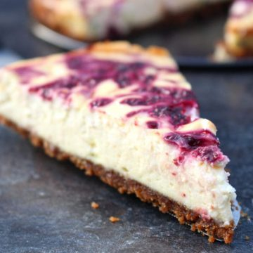 Passion Fruit and Raspberry Cheesecake Slice