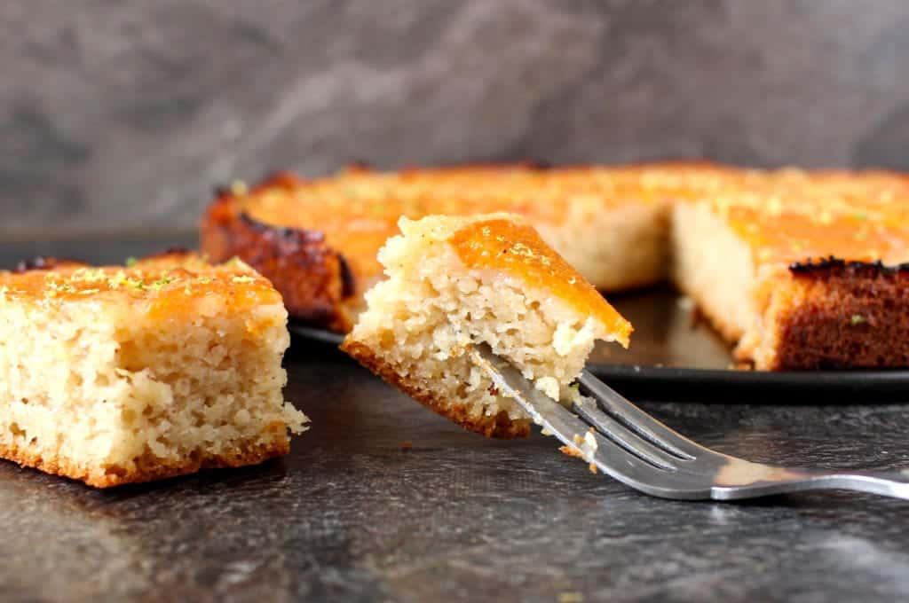 Vegan Persimmon Upside Down Cake