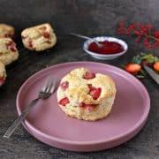 Coconut Strawberry Scones