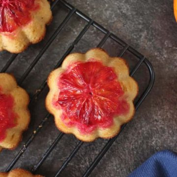 Blood Orange Semolina Cakes