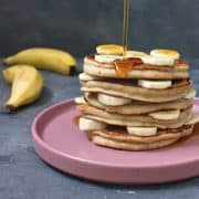 Gluten Free Buckwheat Banana Pancakes