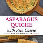 Asparagus Quiche with Feta Cheese