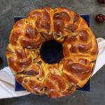 Chocolate Brioche Bread Wreath