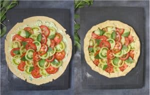 Tomato Galette with Basil Whipped Feta