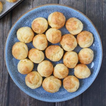 Gruyere Gougeres from above