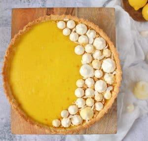 Eggless, Dairy Free Vegan Lemon Tart