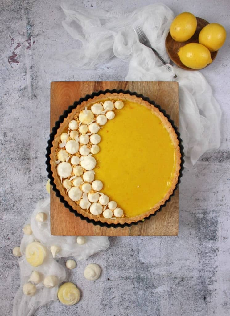 Eggless Lemon Pie (Vegan)