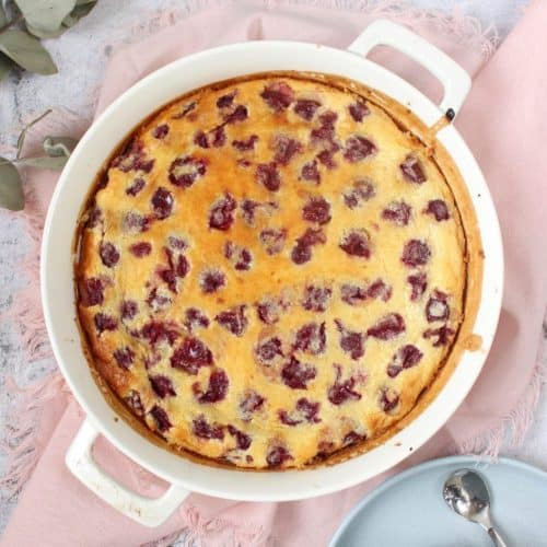 Quick and Easy Cherry Clafoutis