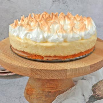 Lemon Meringue Cake on a Cake Stand