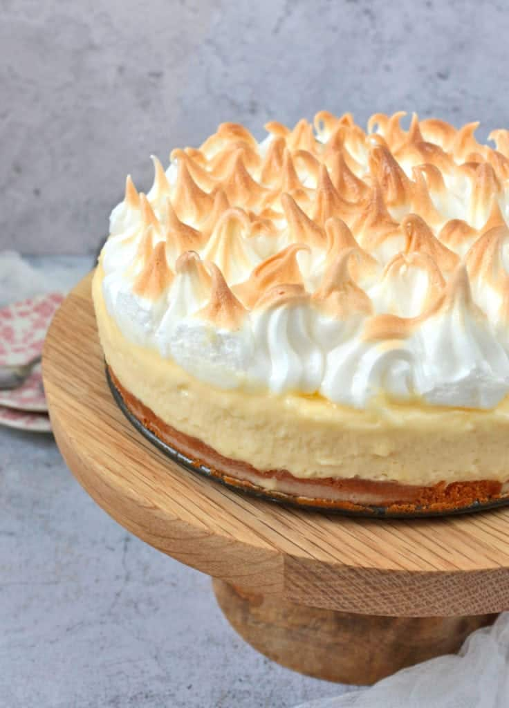 Close up on the Lemon Meringue Cake