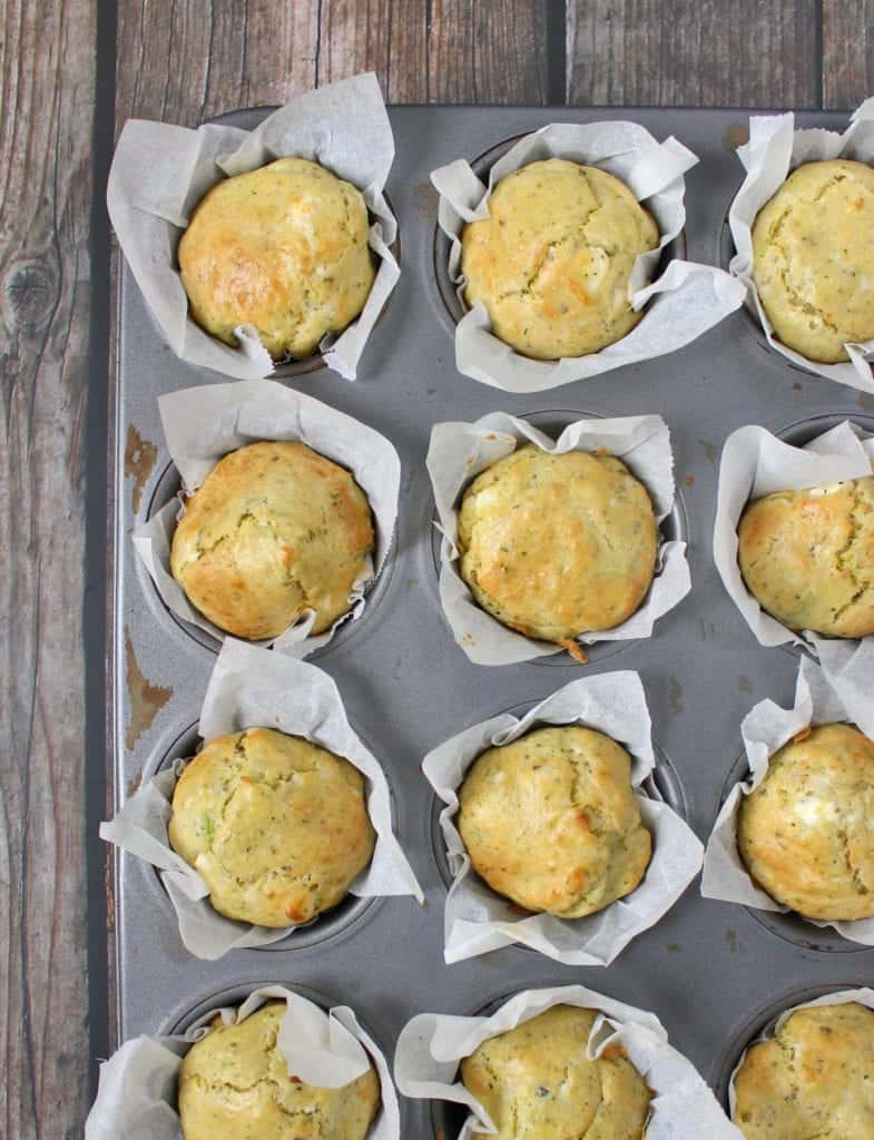 Zucchini Muffins with Goat Cheese