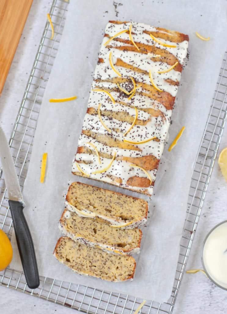 Slices of Lemon Loaf Cake