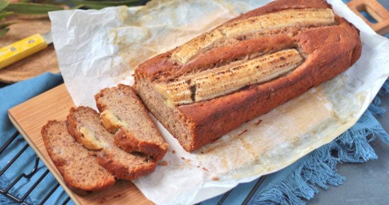 Vegan Banana Bread (Gluten Free + Sugar Free)
