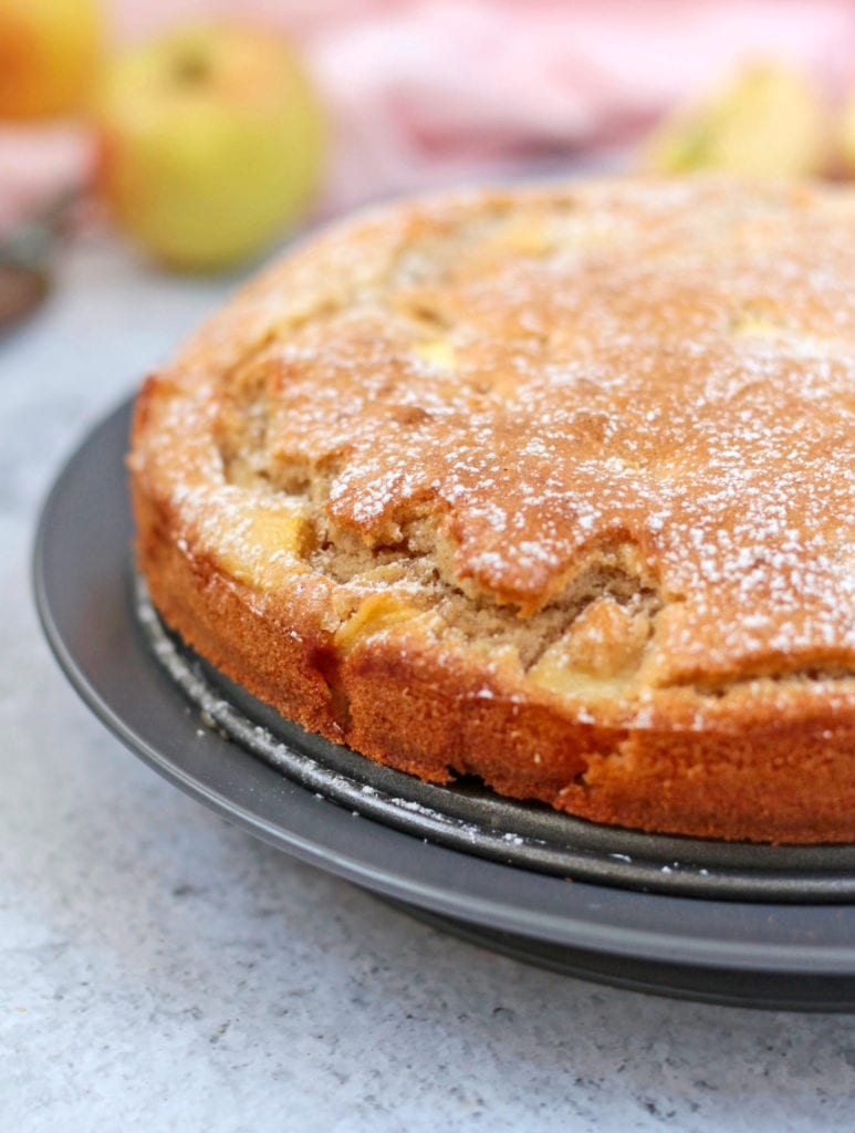 Close up on French Apple Cake