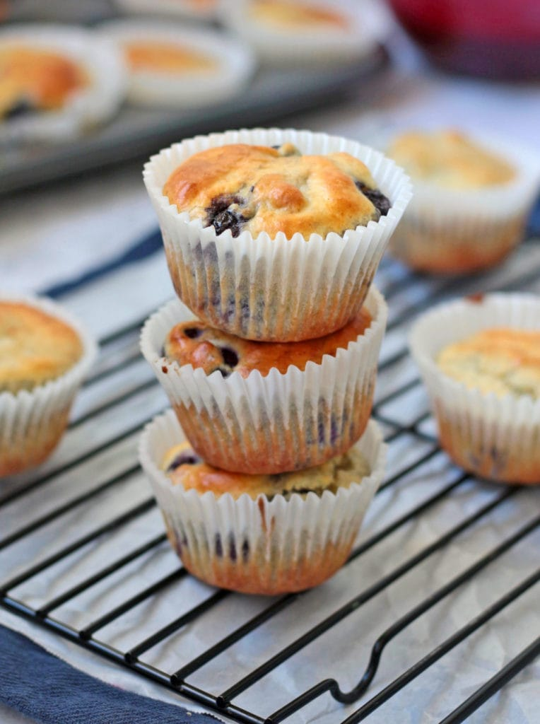 Stack of Lemon Blueberry Muffins