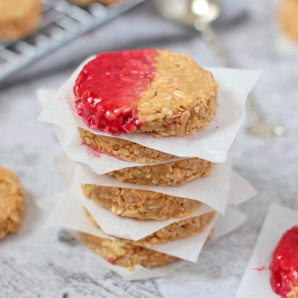 No Bake Peanut Butter Cookies (Vegan + GF)