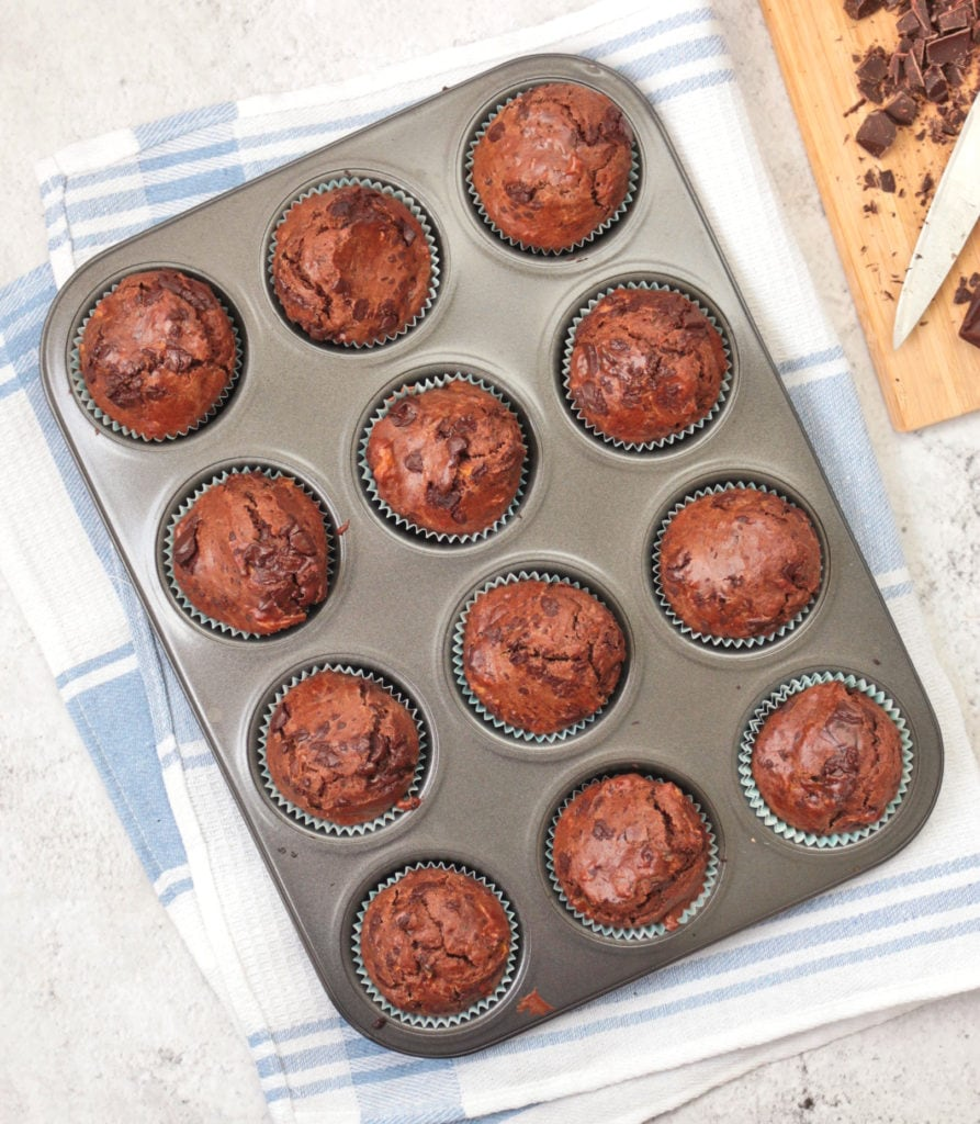 Choc Zucchini Muffins from above