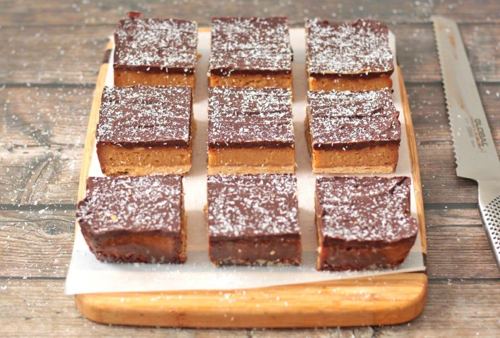 9 Caramel Slices