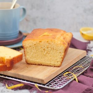 Sliced Lemon Drizzle Loaf