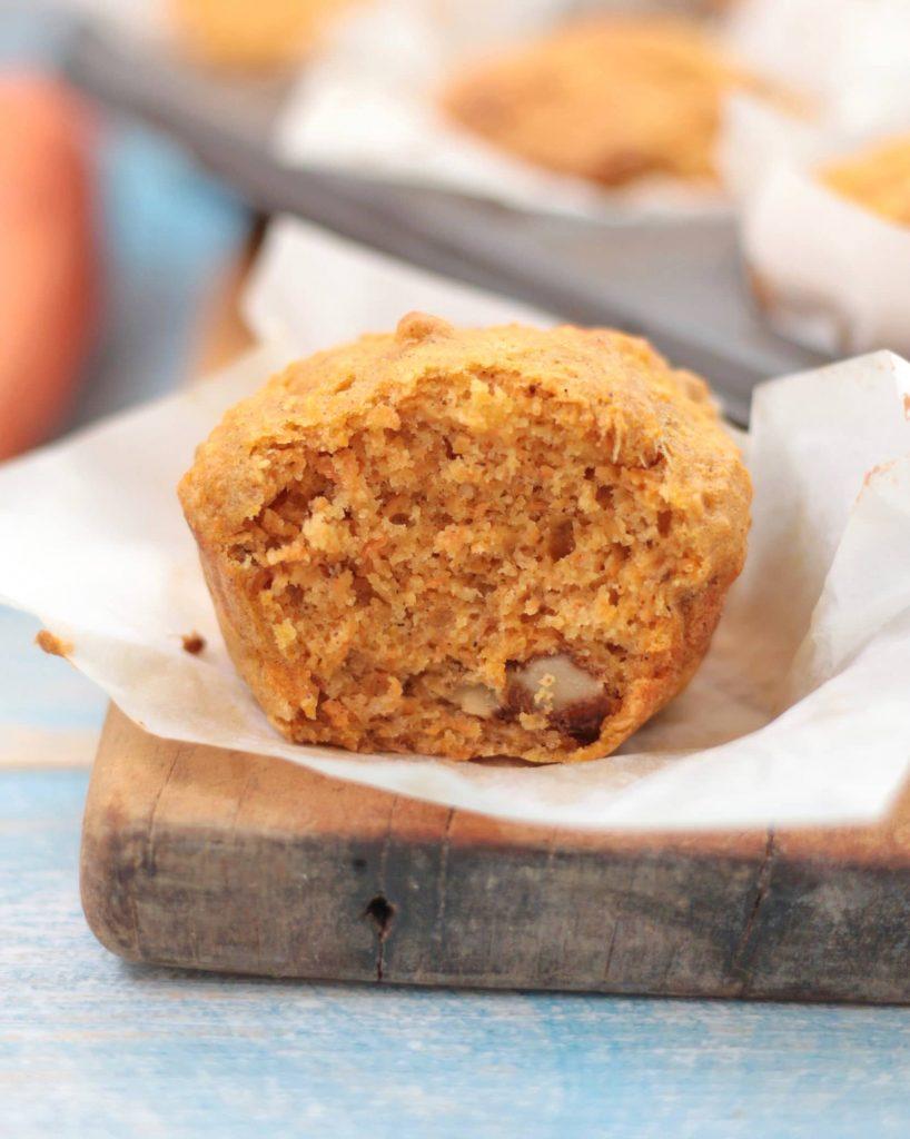 Half a muffin (crumb shot).