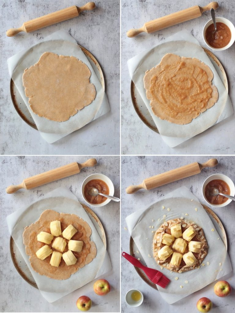 Assembling the galette step by step