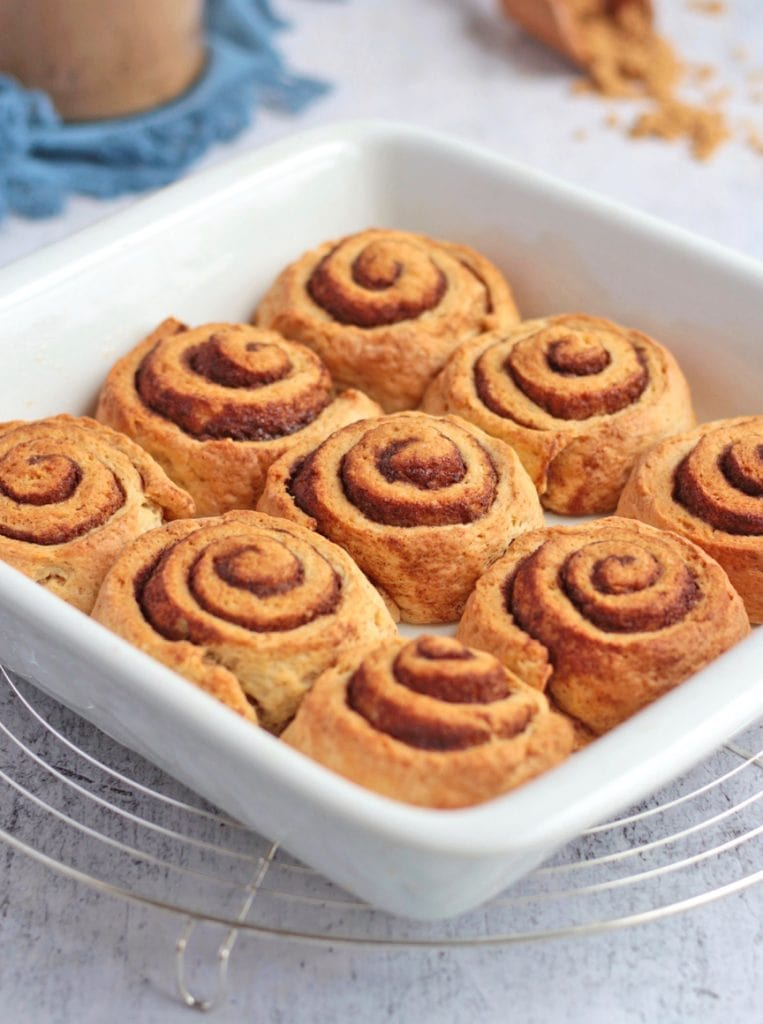 Cinnamon Rolls in the baking dish