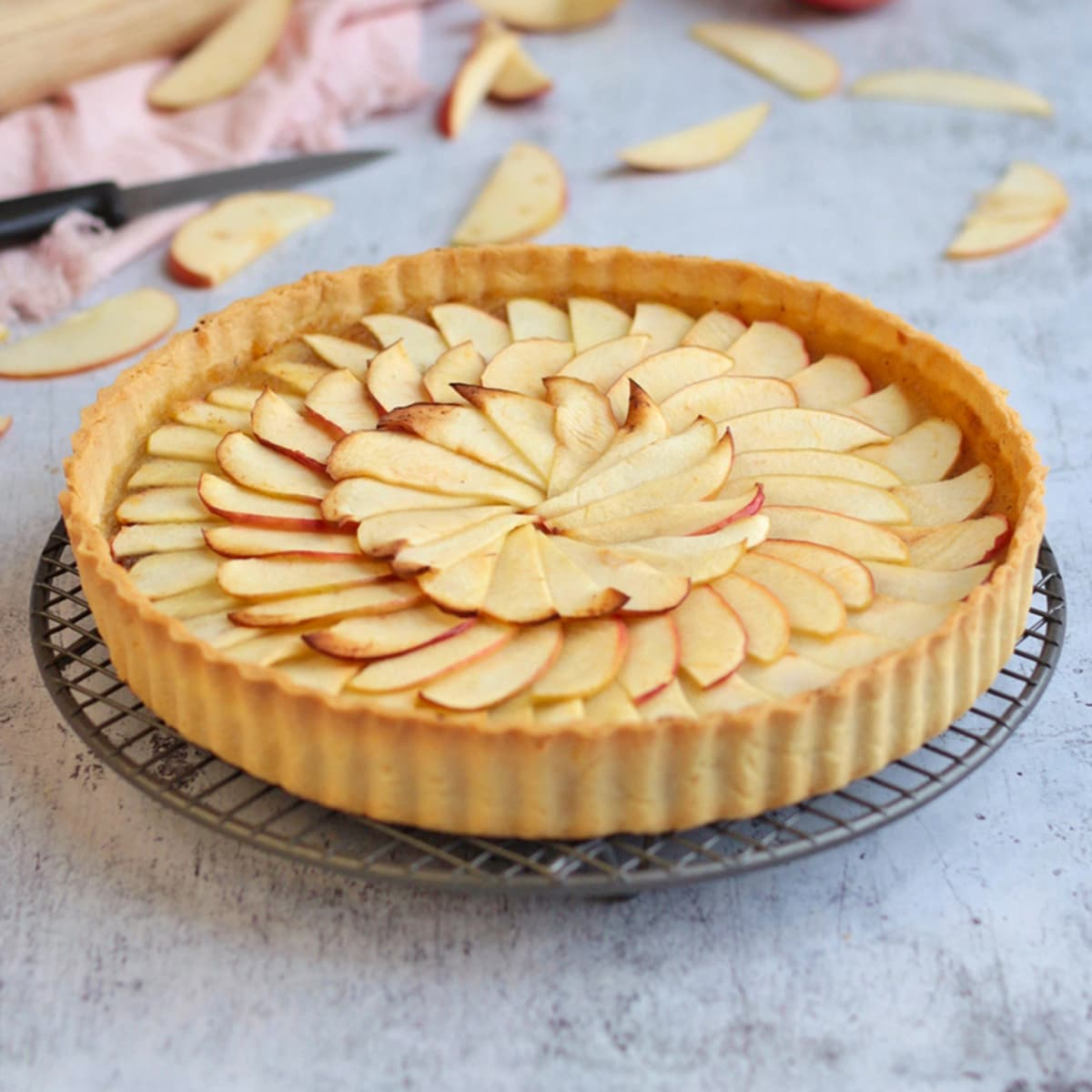 Easy French Apple Tart A Baking Journey