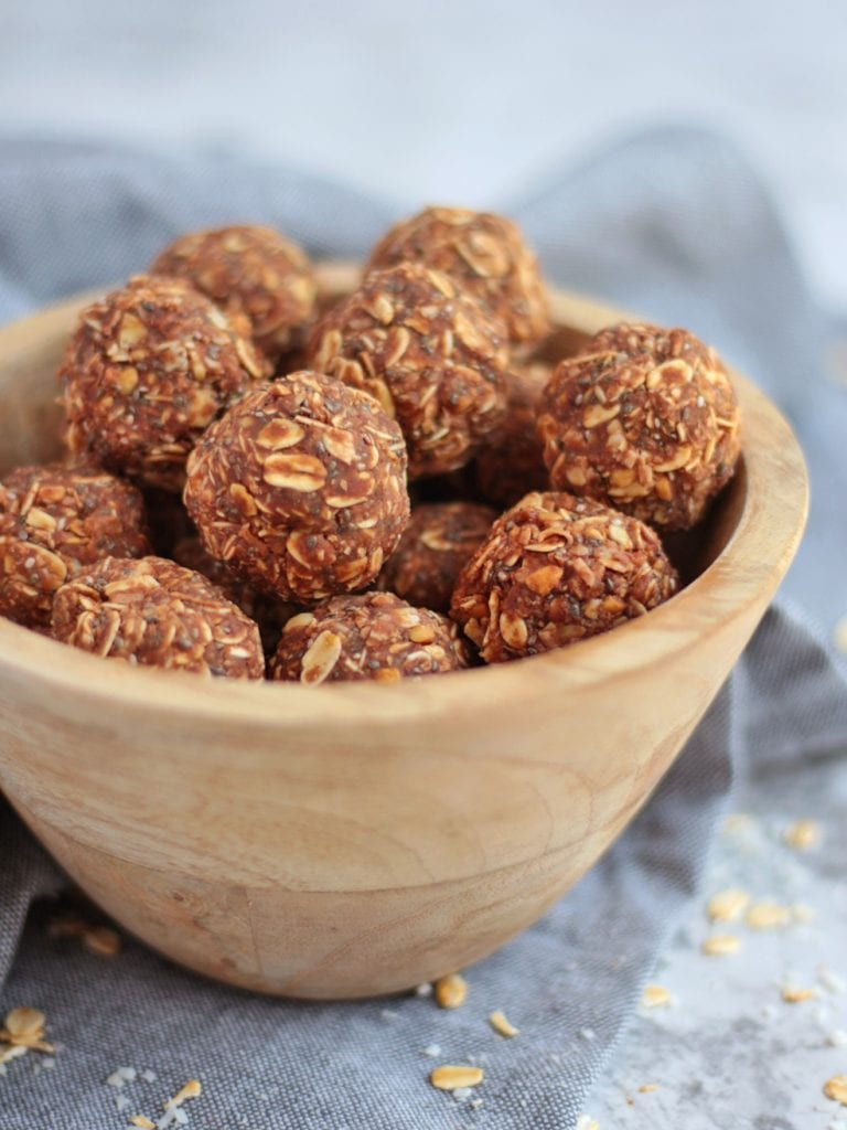 Close up on the Peanut Butter Bliss Balls