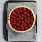 Assembling the Cake: Fresh Strawberries