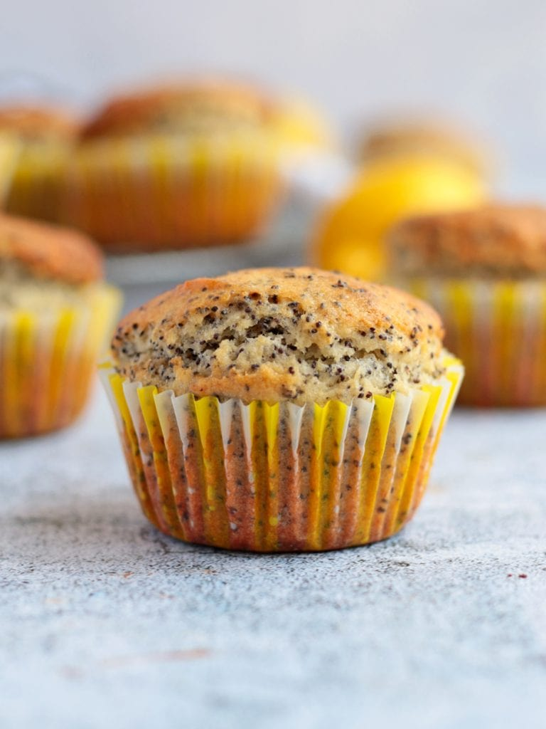 Close up on one Lemon Muffin
