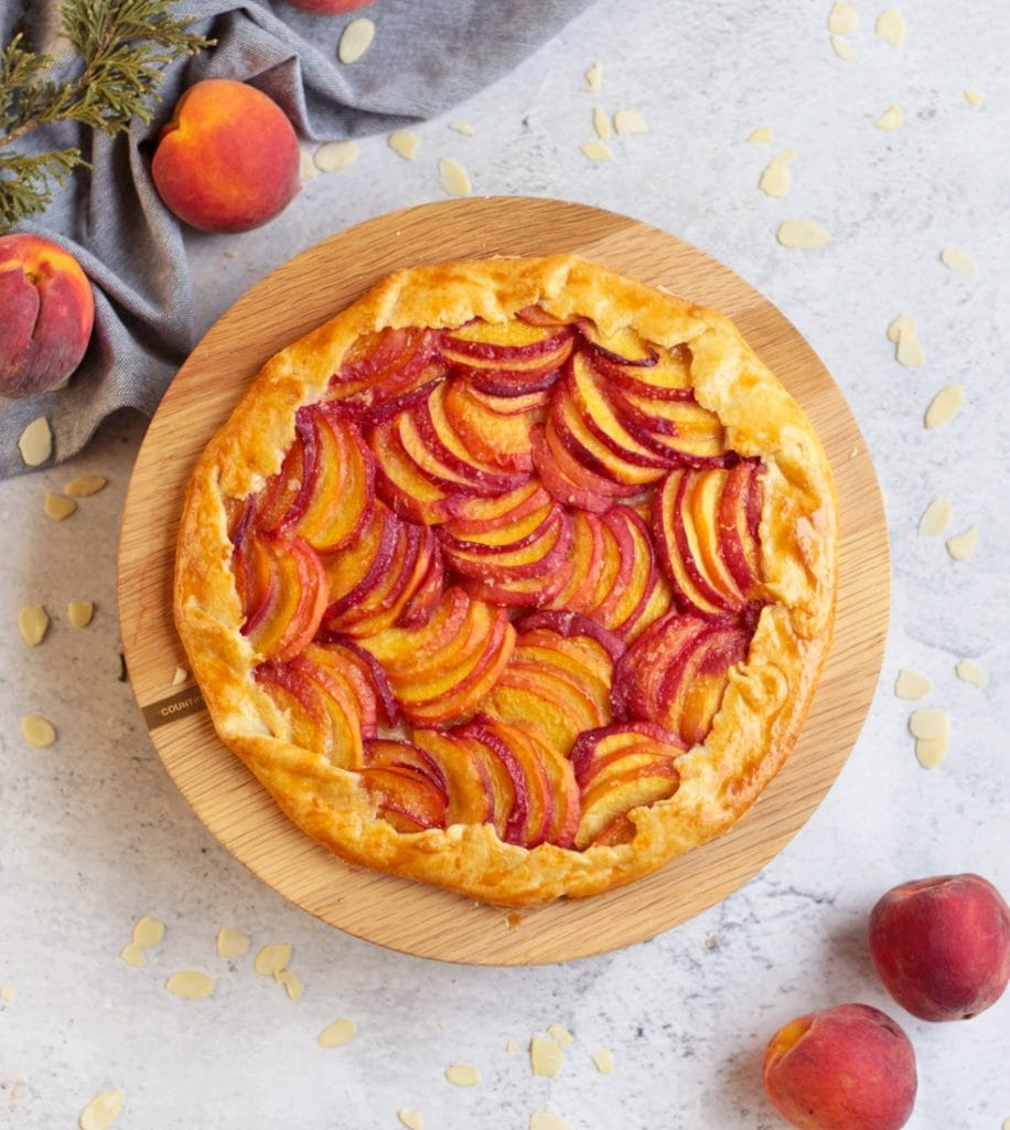 Peach Almond Galette from abover