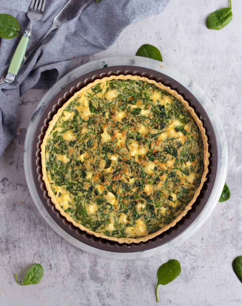 Quiche from above in the Tart Pan
