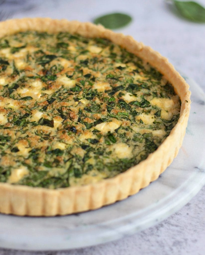 Close up on the Quiche Pastry
