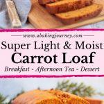 Super light and moist Carrot Loaf Cake
