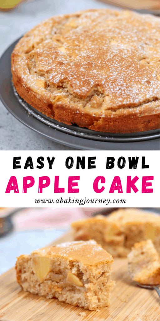 Easy One Bowl French Apple Cake