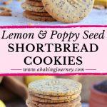 Lemon & Poppy Seed Shortbread Cookies