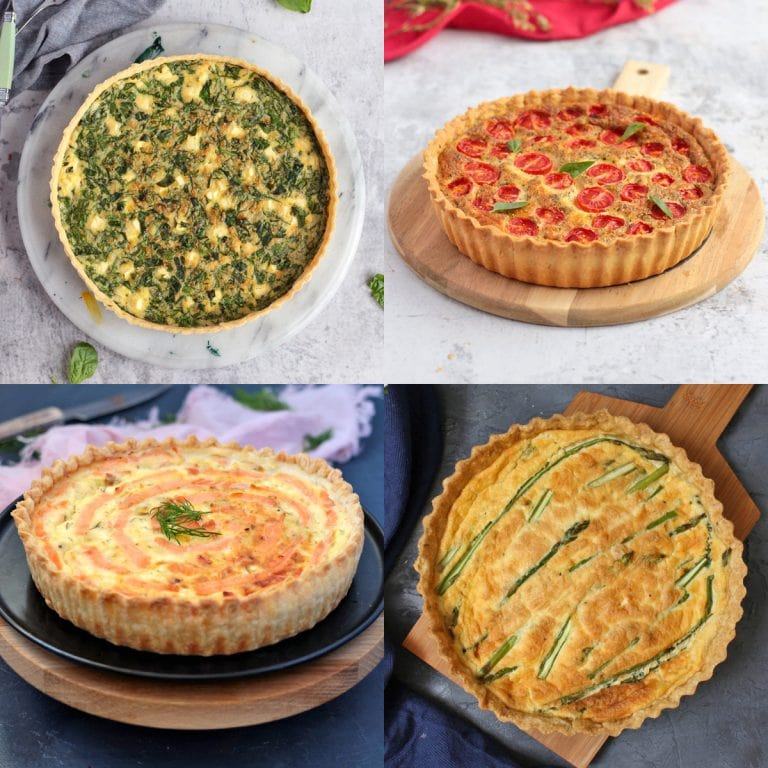 Four Quiches in a grid