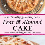 Naturally Gluten-Free Pear & Almond Cake
