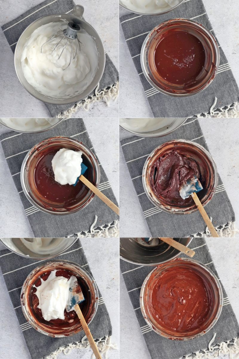Aquafaba Chocolate Mousse: process shots