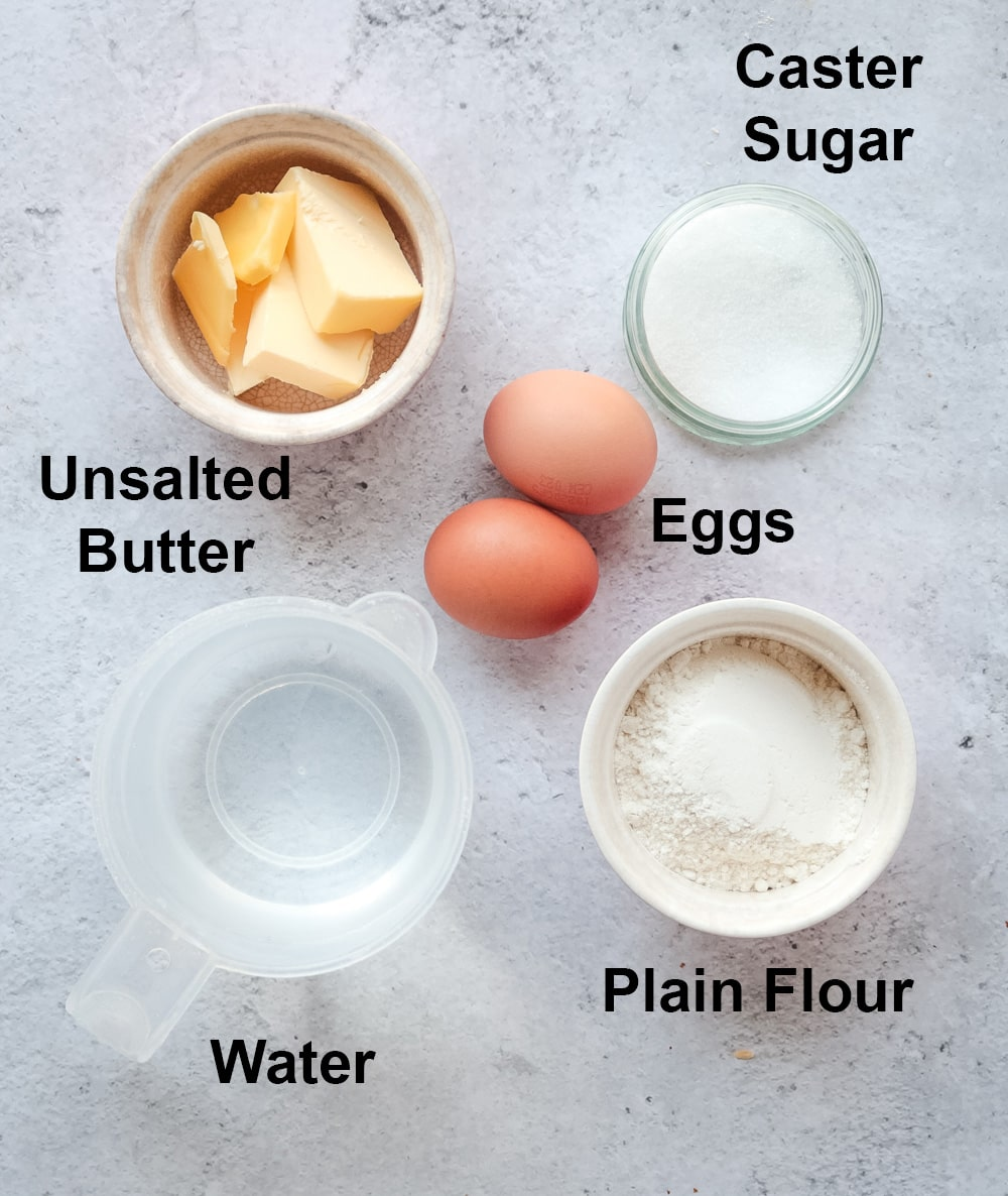 Ingredient for the Basic Choux Pastry