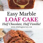 Easy Marble Loaf Cake - half chocolate half vanilla